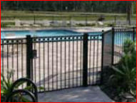 Swimming pool gate from Tornado Fence in Mobile, AL
