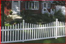 White picket fence from Tornado Fence in Mobile, AL